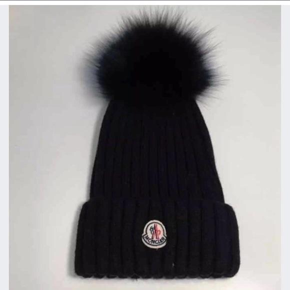 f2af50ef2e7 Moncler Fox Pom Pom Fur hat beanie black. M 5a38844836b9de9a2d00c406. Other  Accessories ...